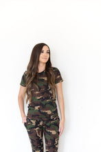 CAMO RIBBED - SHORT SLEEVE