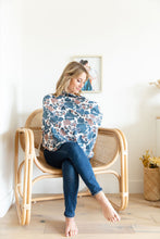 PEACH + BLUE FLORAL COZY COVER