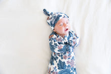 NEWBORN - PEACH + BLUE FLORAL