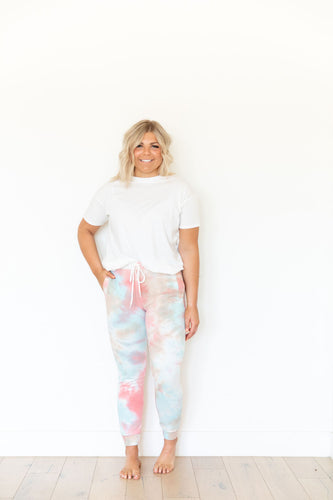 CORAL + MINT + SAND TIE DYE WOMENS JOGGERS
