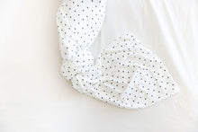 WHITE + BLACK MINI HEART SWADDLE