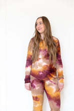 MAROON + GOLD + TAN TIE DYE - LONG SLEEVE