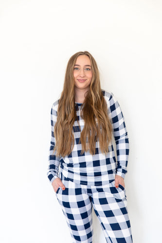 NAVY BUFFALO PLAID - LONG SLEEVE
