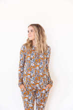 DARK MUSTARD + NAVY FLORAL - LONG SLEEVE