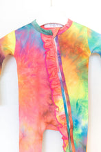NEON TIE DYE ZIPPER ONE PIECE
