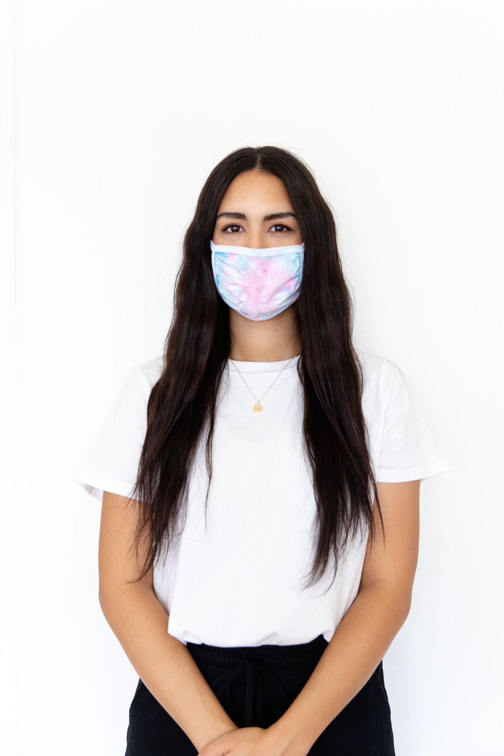 COTTON CANDY TIE DYE - ADULT FACE MASK