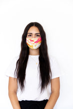 PINK + YELLOW TIE DYE - FACE MASK