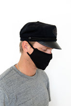 BLACK SOLID - ADULT FACE MASK