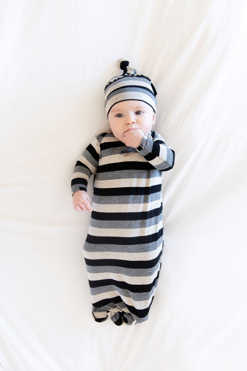 BLACK + CHARCOAL + OATMEAL STRIPE
