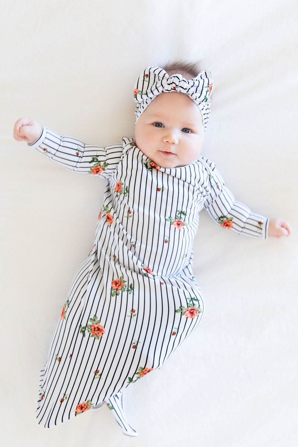 PEACH STRIPE FLORAL