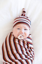 MULTICOLOR RIBBED STRIPE BEANIE SET