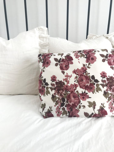 IVORY ROSE PILLOW CASE
