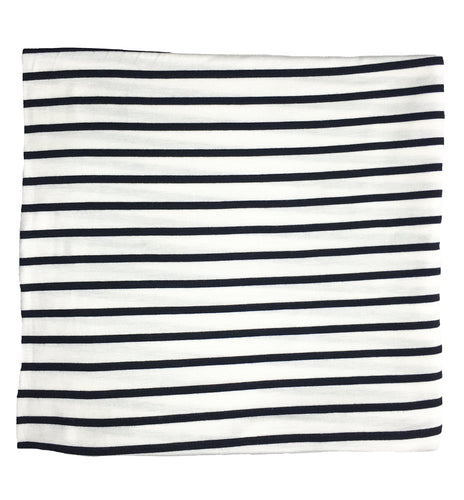 WHITE + BLACK STRIPE SWADDLE