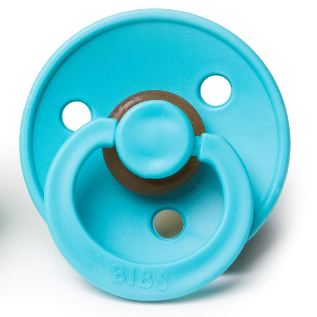 BIBS NATURAL RUBBER PACIFIER - TURQUOISE