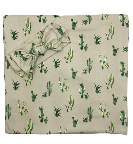 ARIZONA TAN CACTUS BOW SET