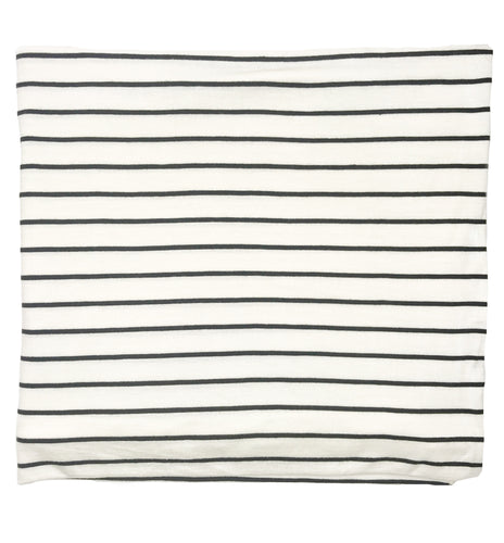 WIDE WHITE + BLACK STRIPE SWADDLE