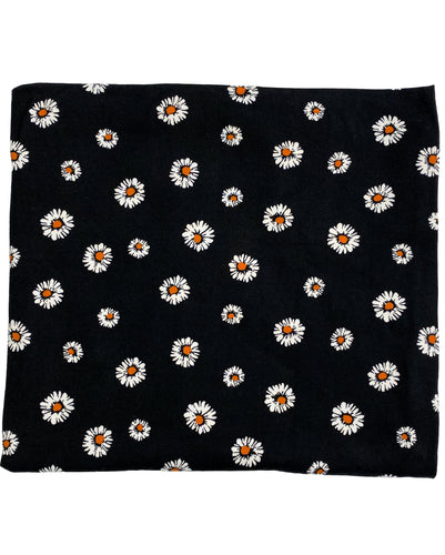 BLACK + RUST DAISY SWADDLE