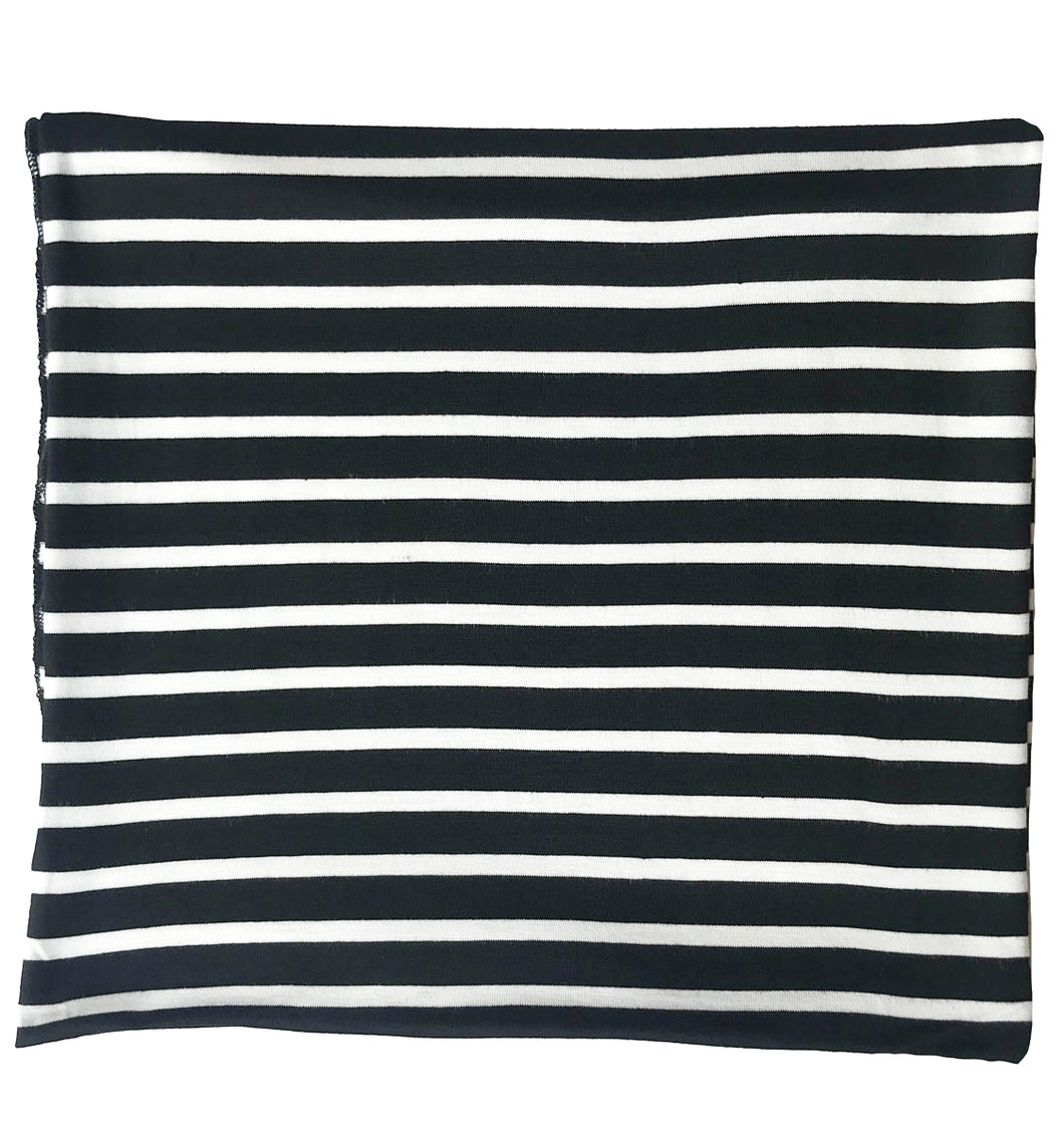 BLACK + WHITE THIN STRIPE SWADDLE