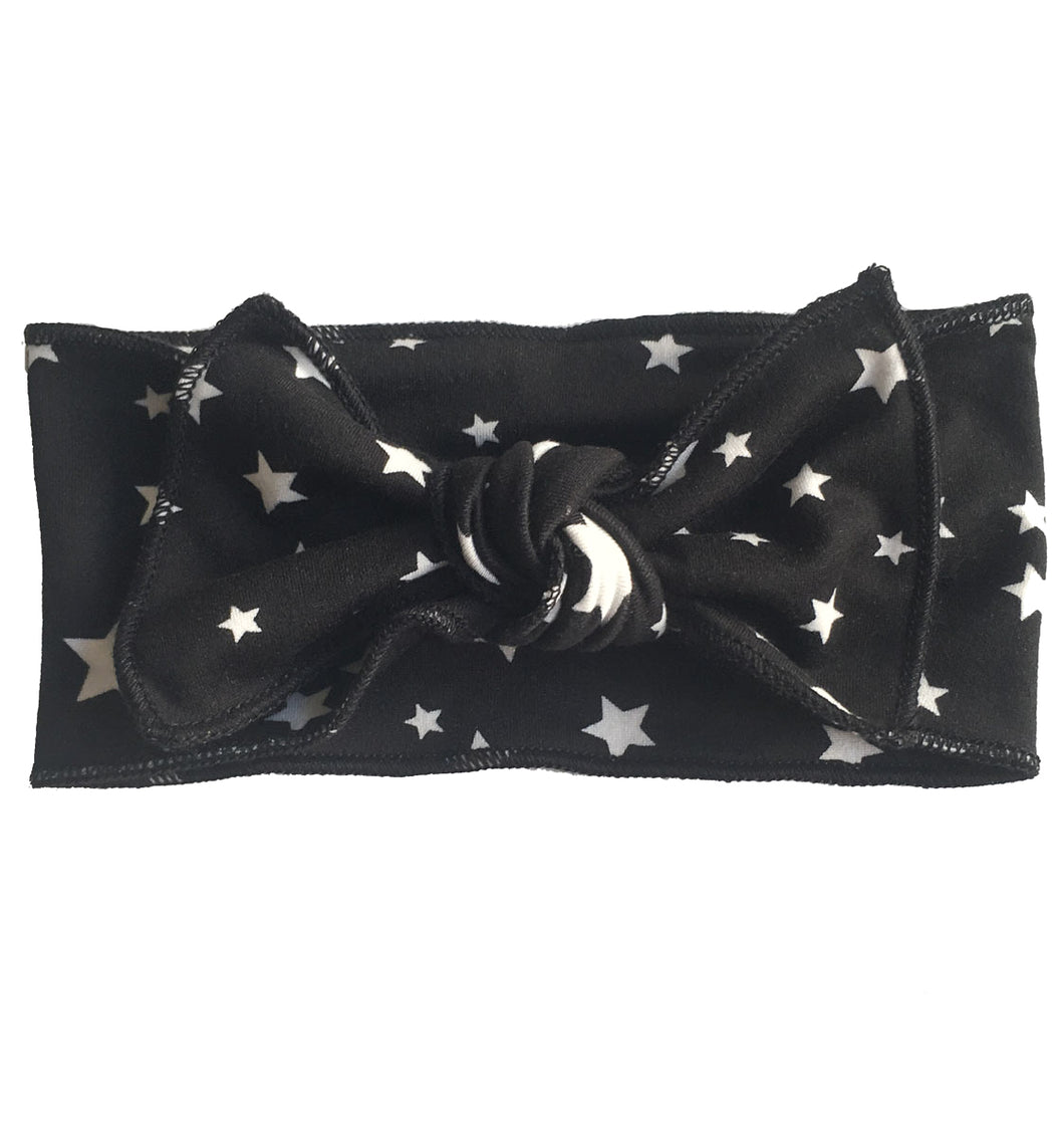 BLACK + WHITE STAR BOW