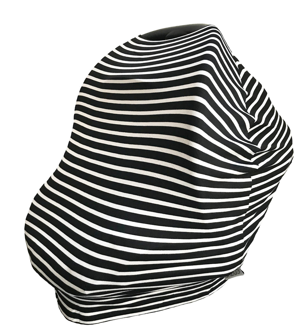 BLACK + WHITE STRIPE COZY COVER