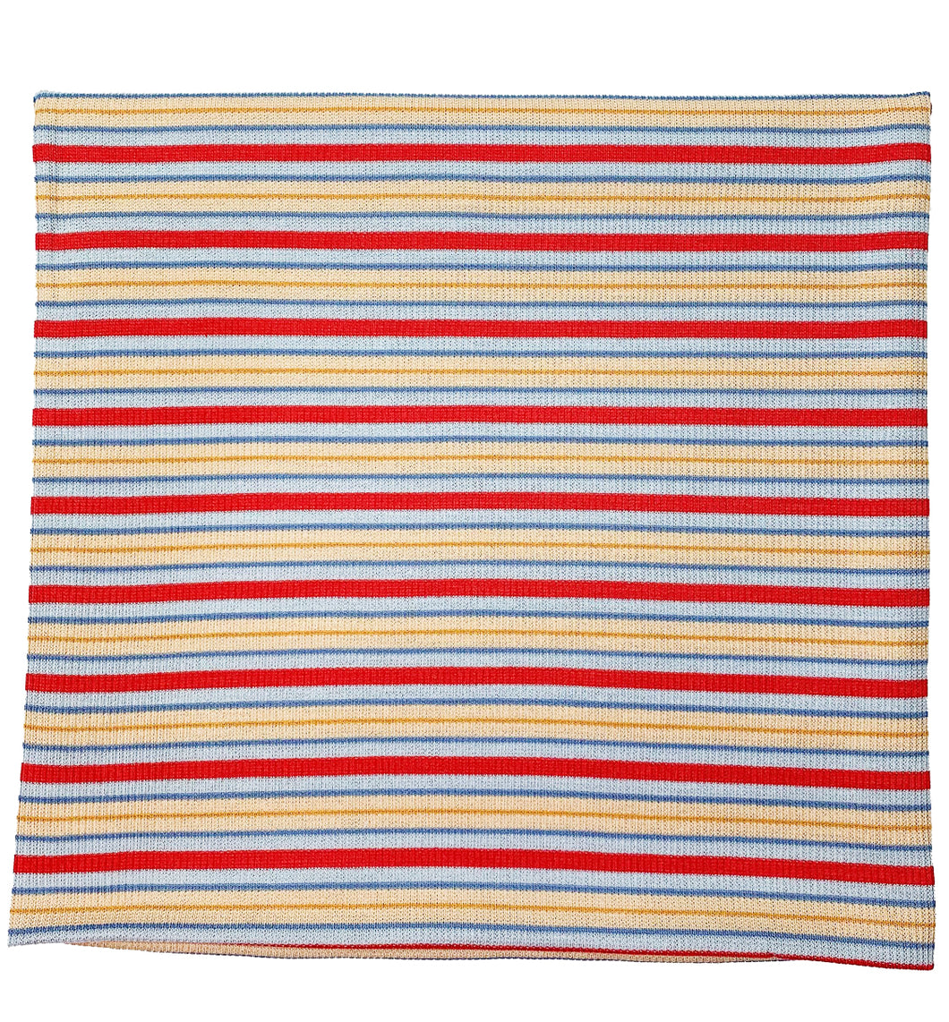 BLUE + RED + YELLOW RIBBED STRIPE SWADDLE