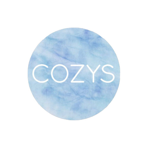 COZYS STICKER - BLUE TIE DYE