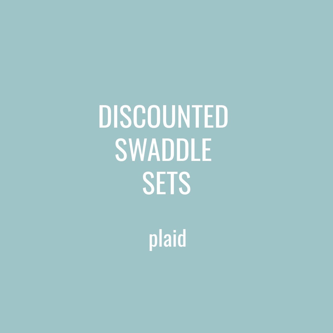 DISCOUNTED SWADDLE SETS - PLAID