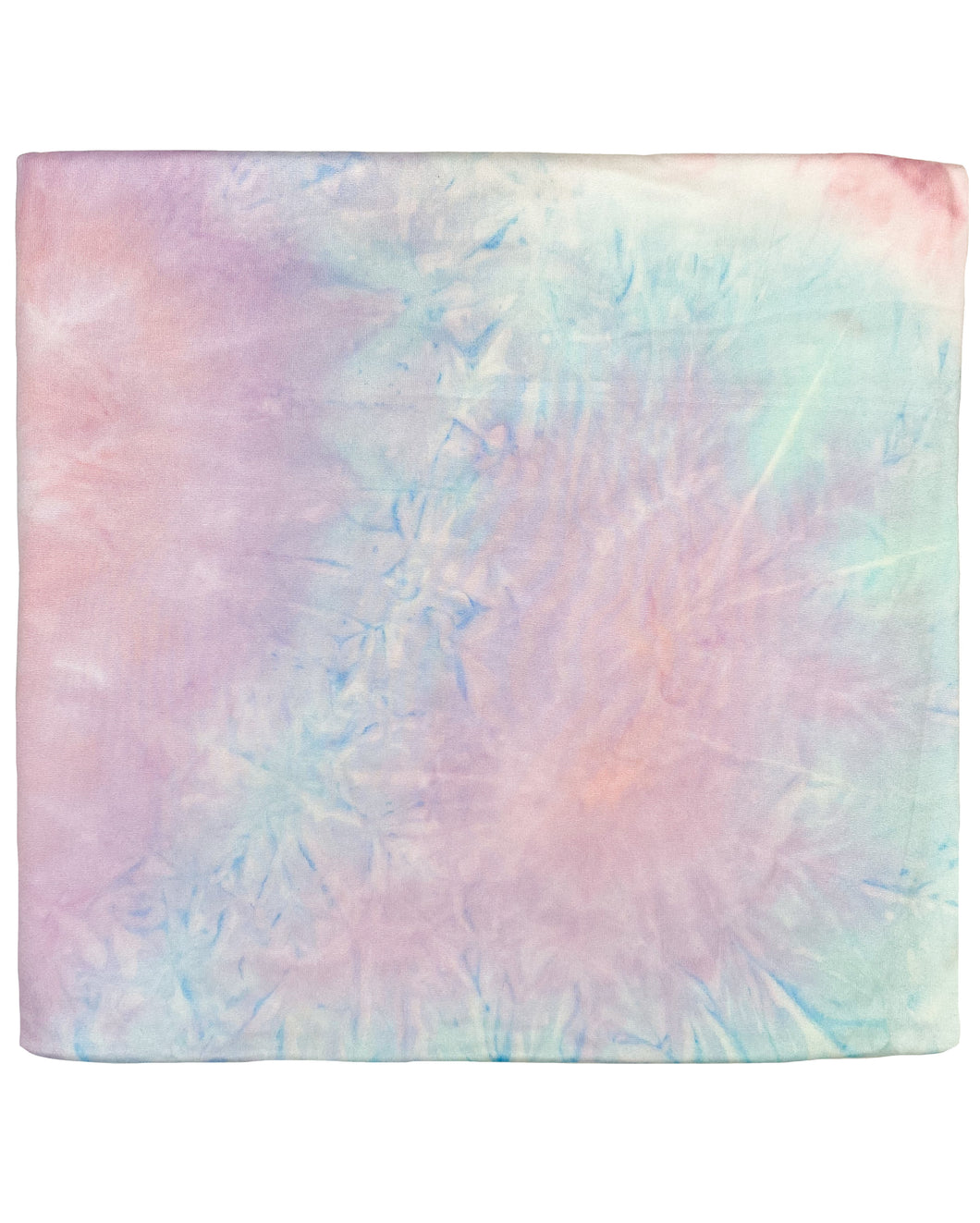 LIGHT CORAL + PURPLE + LIGHT BLUE TIE DYE SWADDLE