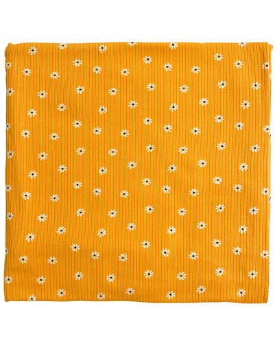 GOLD DAISY RIBBED SWADDLE
