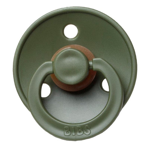 BIBS NATURAL RUBBER PACIFIER - HUNTER GREEN