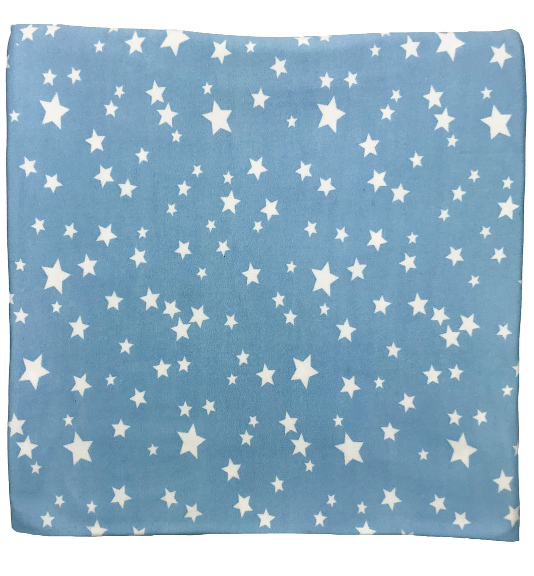 LIGHT BLUE + WHITE STAR SWADDLE