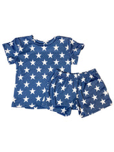LIGHT DENIM + WHITE STAR BOY SHORT SET
