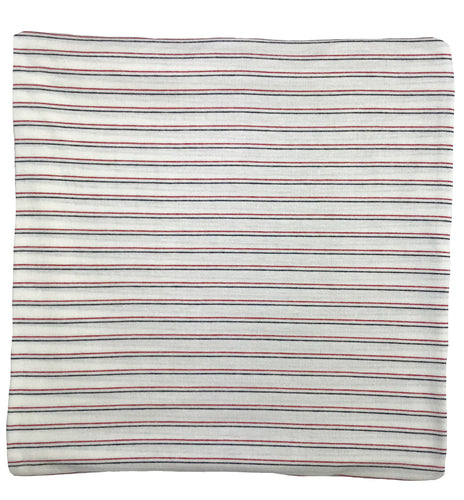 NAVY BLUE + RED THIN STRIPE SWADDLE