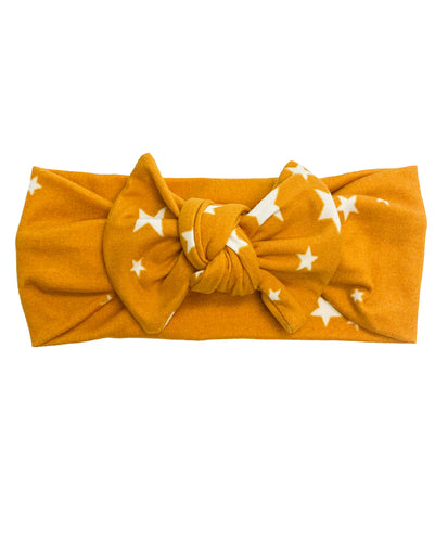 GOLD + WHITE STAR BOW