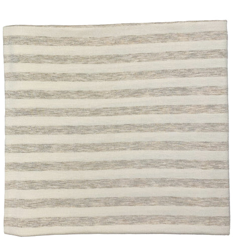 HEATHERED OATMEAL + IVORY STRIPE SWADDLE