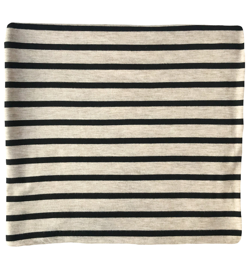 OATMEAL + BLACK THICK STRIPE SWADDLE