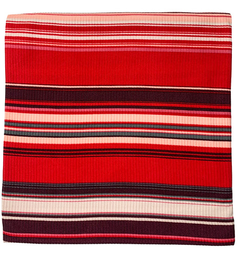 RED + PLUM + LIGHT PINK RIBBED STRIPE SWADDLE