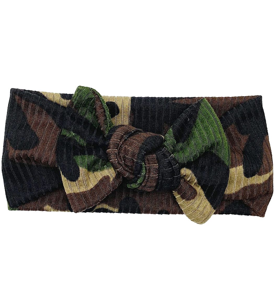CAMO RIBBED BOW