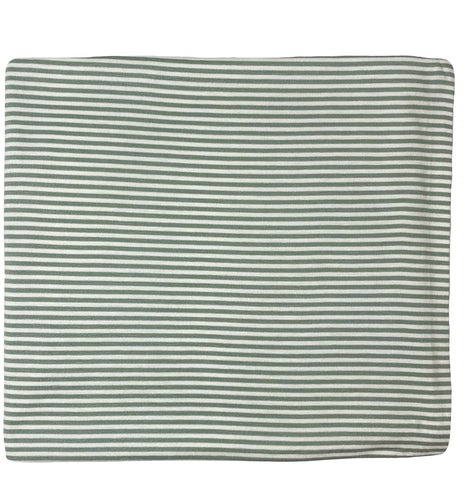 SAGE GREEN + WHITE STRIPE SWADDLE