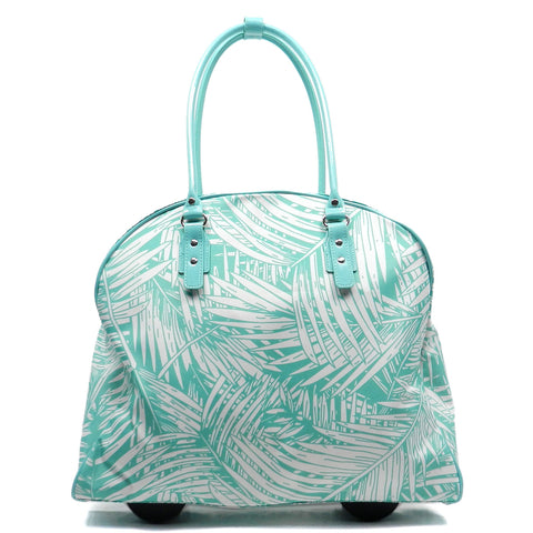 PALM TREE PRINTED CARRY ON LUGGAGE