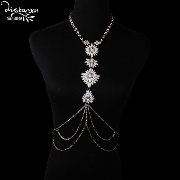 WOMEN'S GOLD PLATED BODY JEWELRY/BODY CHAIN