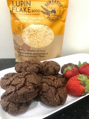 Chocolate Lupin Protein Cookies