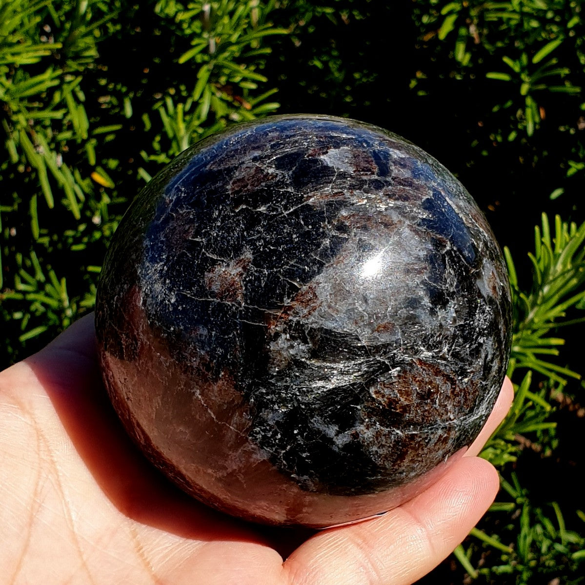 Astrophyllite Sphere 77mm - Shop with Afterpay at Illiom Crystals