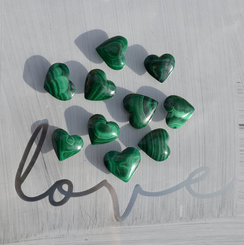 Malachite Heart Each (BE4049-171)