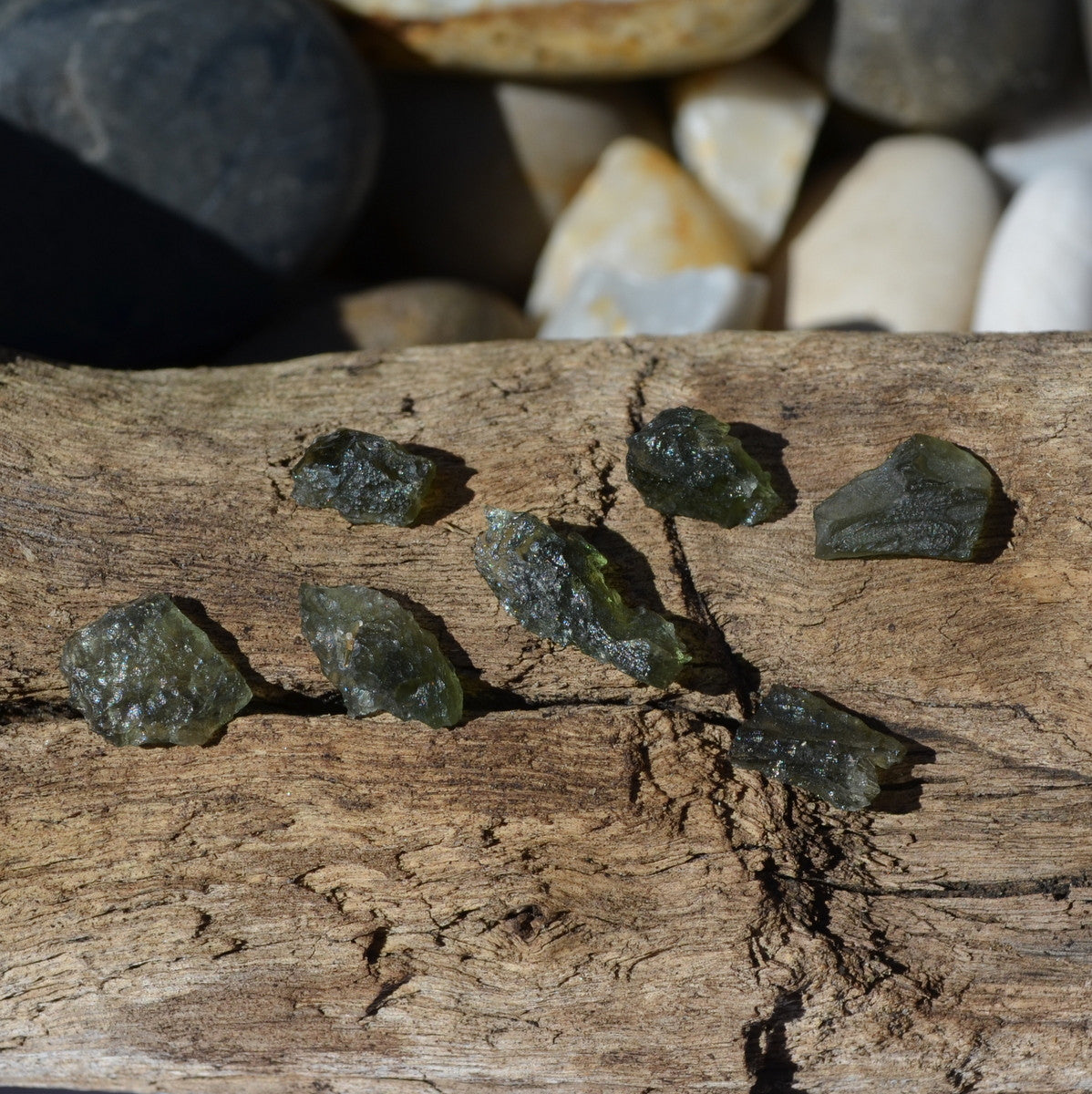 Moldavite Small Pieces Perfect for Gridding - Illiom Crystals