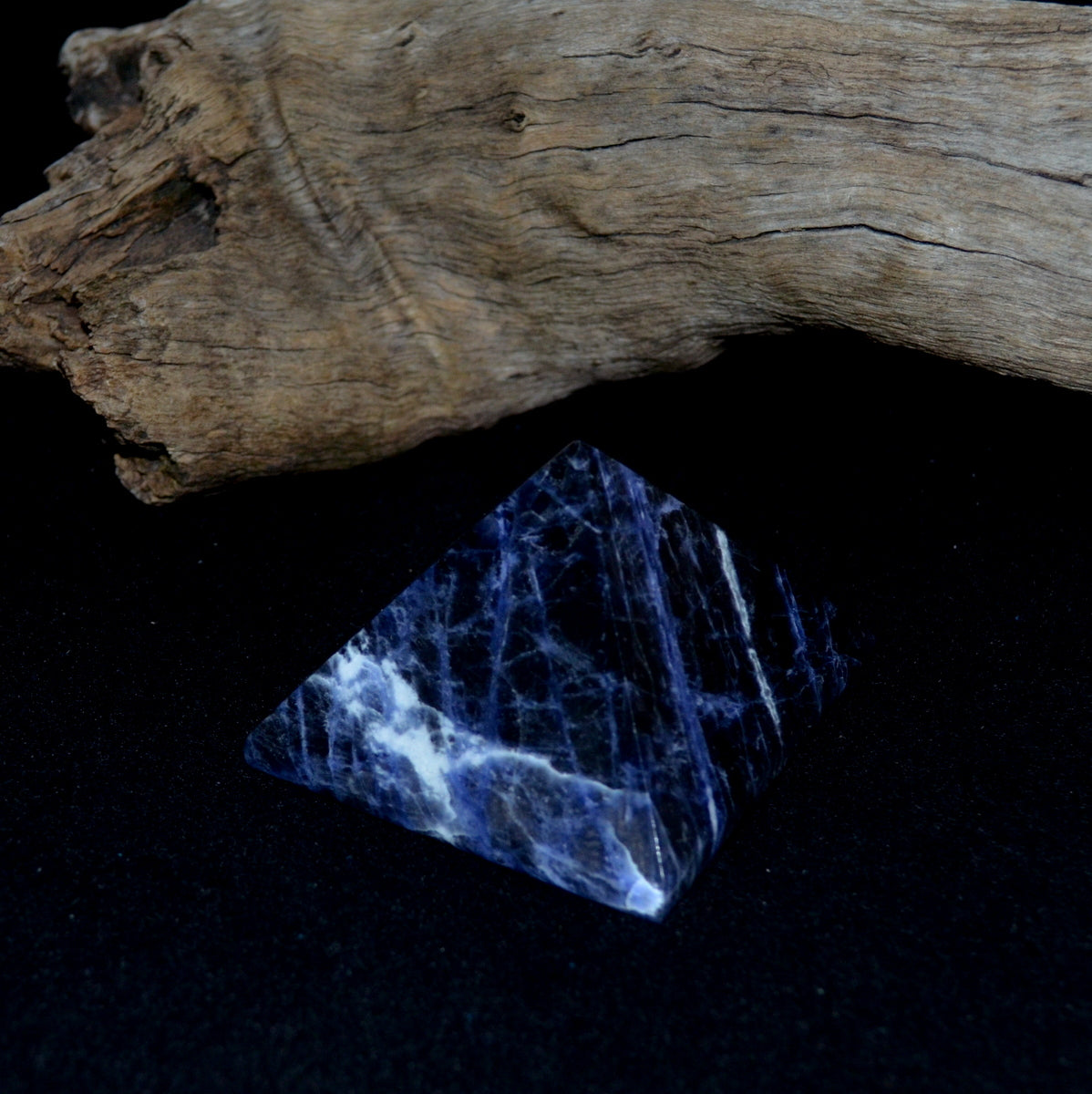 Large Blue Sodalite Pyramid - Confidence in Self Focus Truth - Shop at Illiom Crystals - Afterpay Available