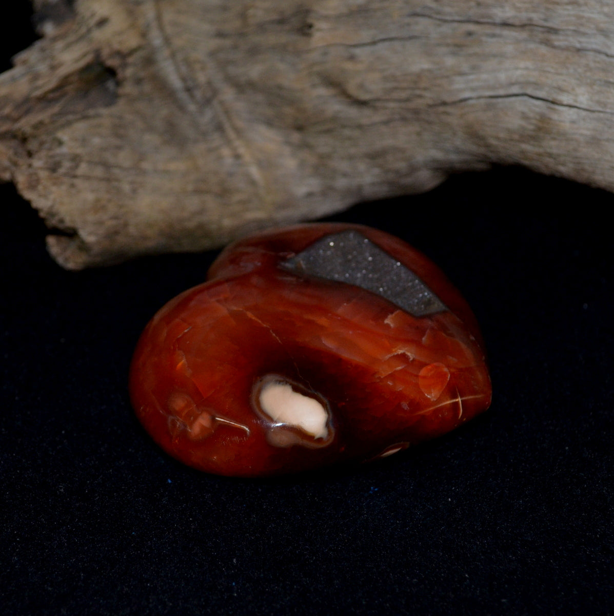 Large Carnelian Puffy Heart - Courage Personal Power Creativity - Buy Now at Illiom Crystals - Now with Afterpay