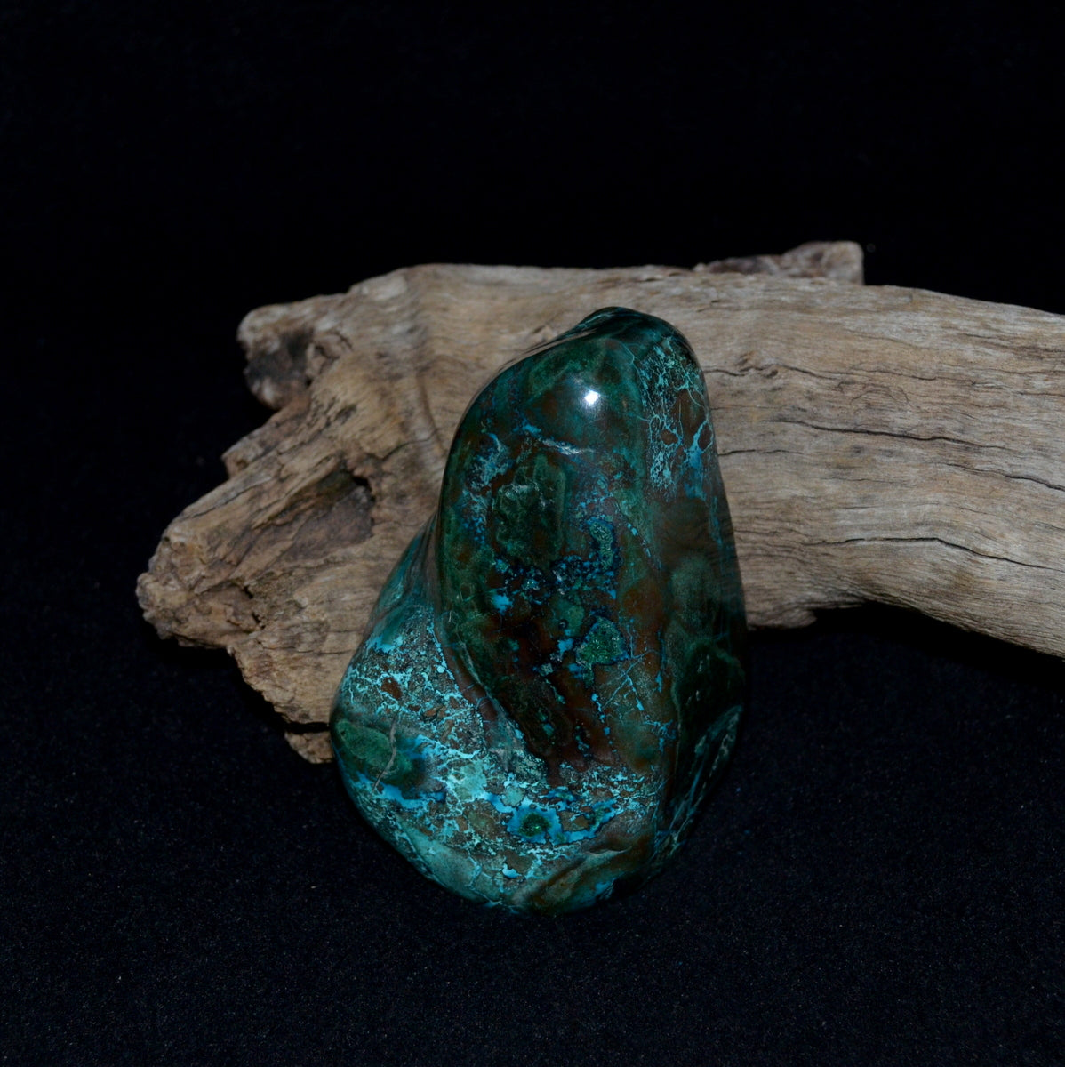 Chrysocolla Malachite Polished Freeform - Protective Truth Emotional Healing - Shop Now at Illiom Crystals - Afterpay Available