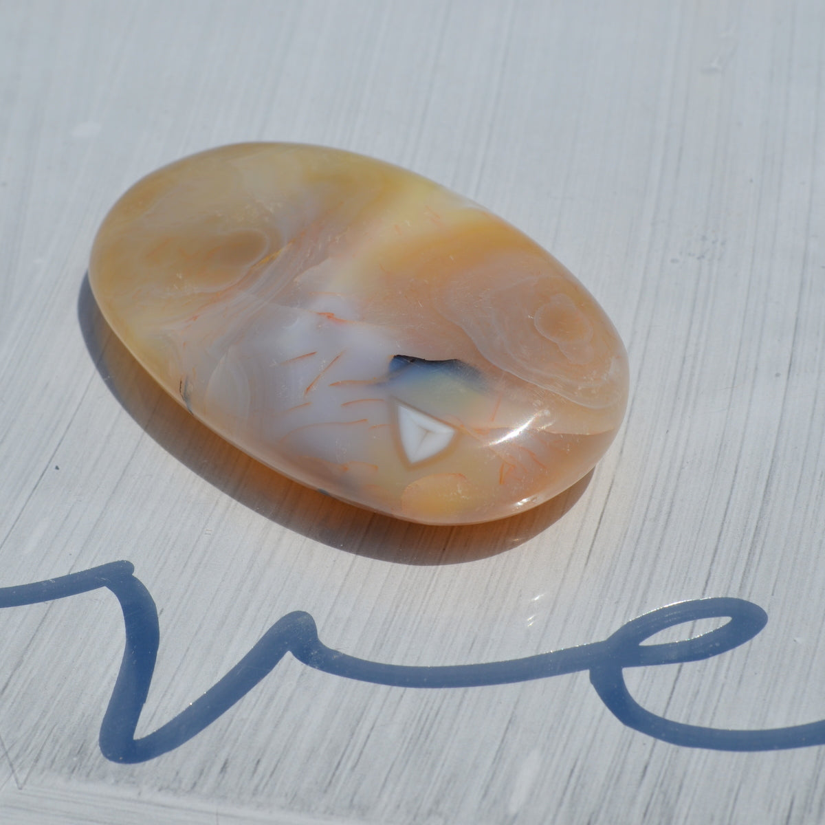 Dentritic Agate Polished Palmstone - Abundance Connection Stability - Available at Illiom Crystals - Now with Afterpay