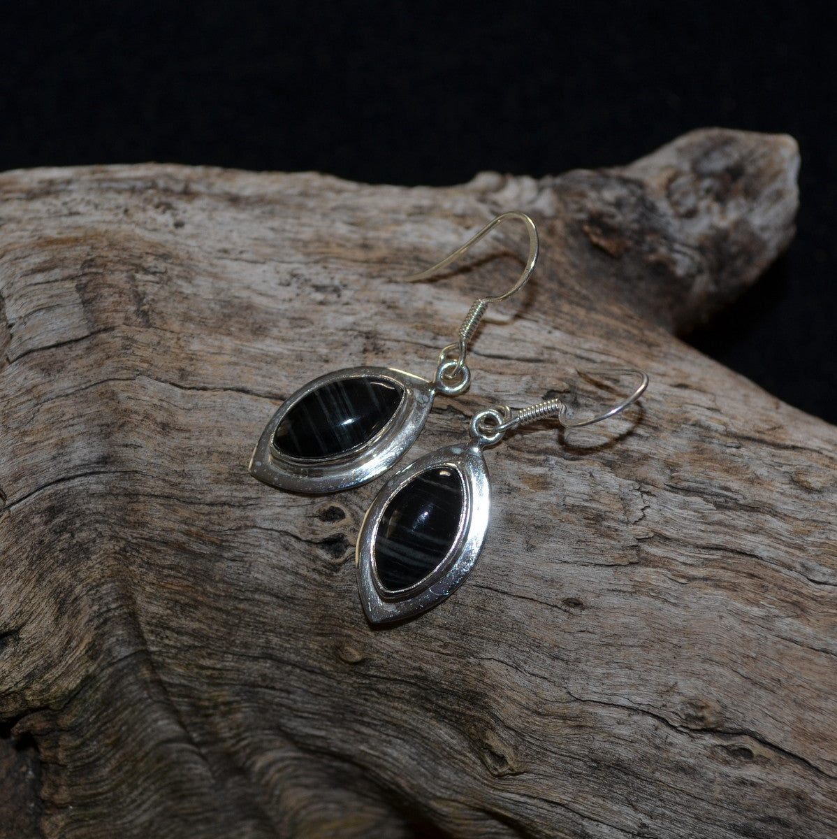Silver Leaf Jasper 925 Silver Earrings - Balancing Grounding Completion - Buy Now at Illiom Crystals - Now with Afterpay